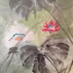 Leslie Belmonti - Bird and Lotus