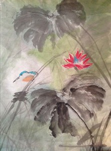 Leslie Belmonti - Bird and Lotus