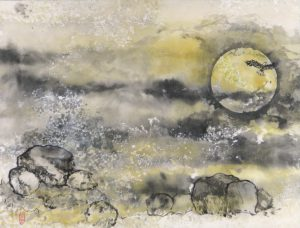 Betty Johnson - Eagle Crossing the Moon